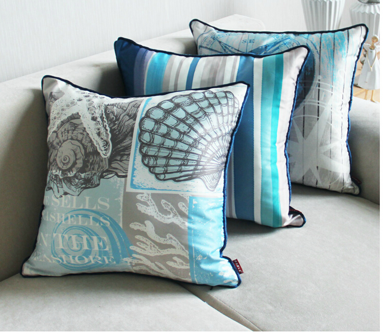 "Aug New!fb07,18"" square Nautical style decor pillow case"