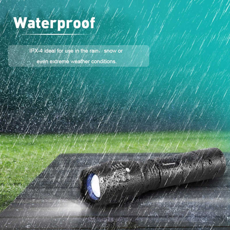 Most Bright  USB Rechargeable Flashlight Lanterna LED COB+L2/T6 Tactical Torch Zoomable High Power zaklamp Led Flashlights Lamp