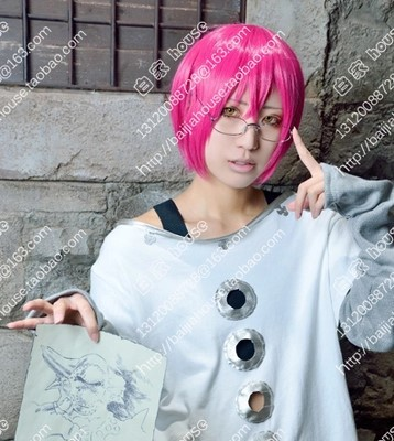 Free Shipping Cosplay Wig The Seven Deadly Sins Gowther Pink Hair