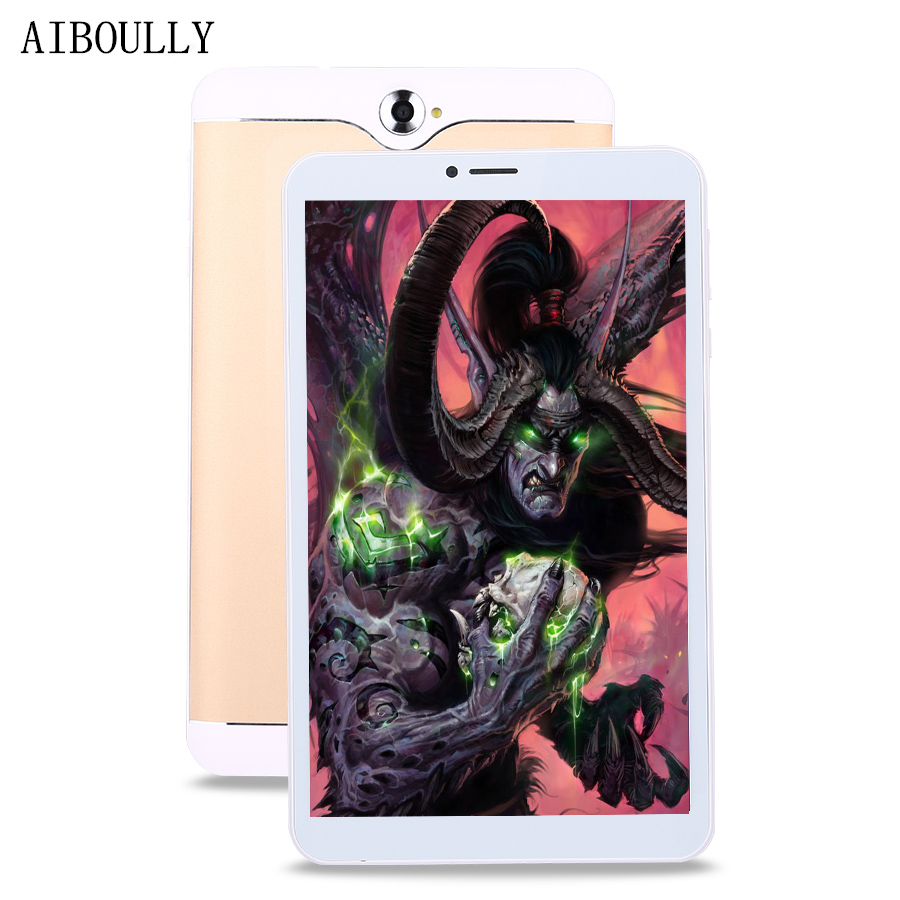 AIBOULLY 7 inch Android 6 Tablet Quad Core 1GB RAM 8GB ROM Dual SIM 3G Phone Call Tablets ips HD Screen 4 Cores Smart Tab 9.7'' смартфон prestigio muze b3 psp3512duogold dual sim 5 0 1280 720 ips 1 3ghz quad core 1gb 8gb 2 0mp 8 0mp android 6 0 2000mah