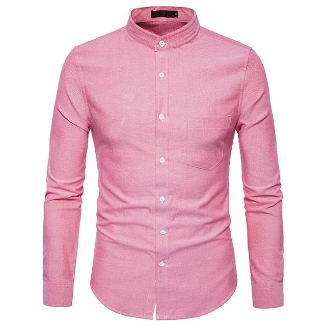 Pink brand mens shirts south park t shirts for Mens pink long sleeve shirt