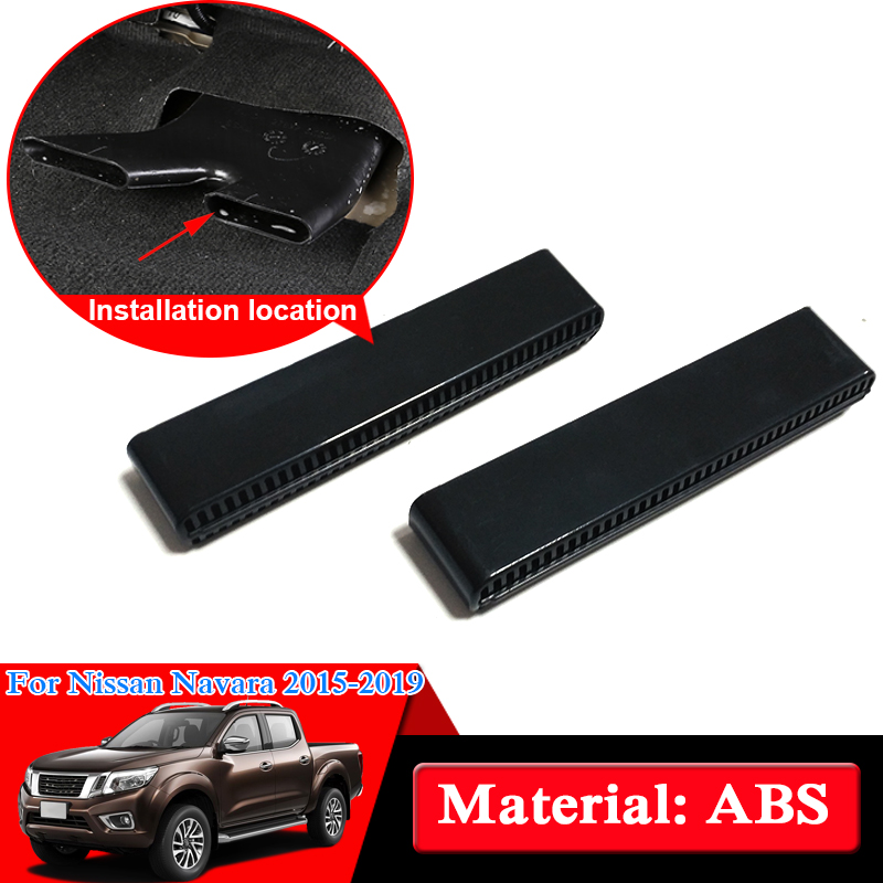 Car Styling ABS Chrome For Nissan Navara NP300 D23 2017 2019 Under Seat Air Outlet Internal
