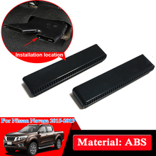 Car Styling ABS Chrome For Nissan Navara NP300 D23 2017-2019 Under Seat Air Outlet Internal Decorations Cover Car Stickers