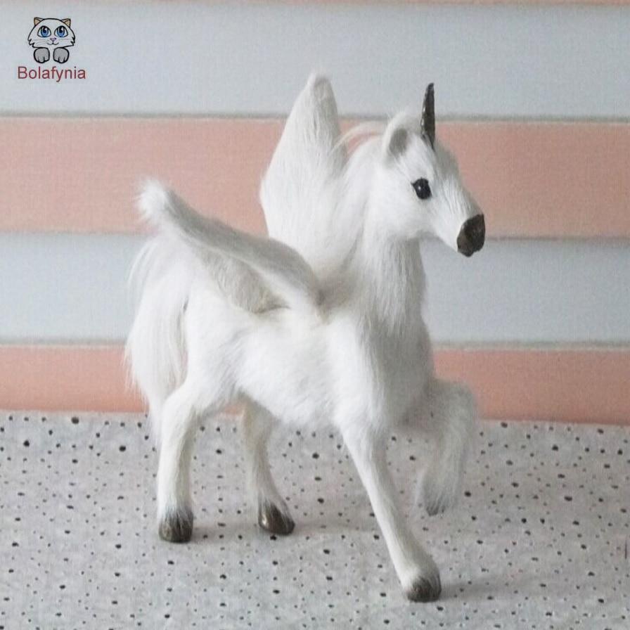 BOLAFYNIA simulation horse children Plush Stuffed Toy Simulation Pegasus Unicorn creative handmade crafts Baby Kids Toy gift