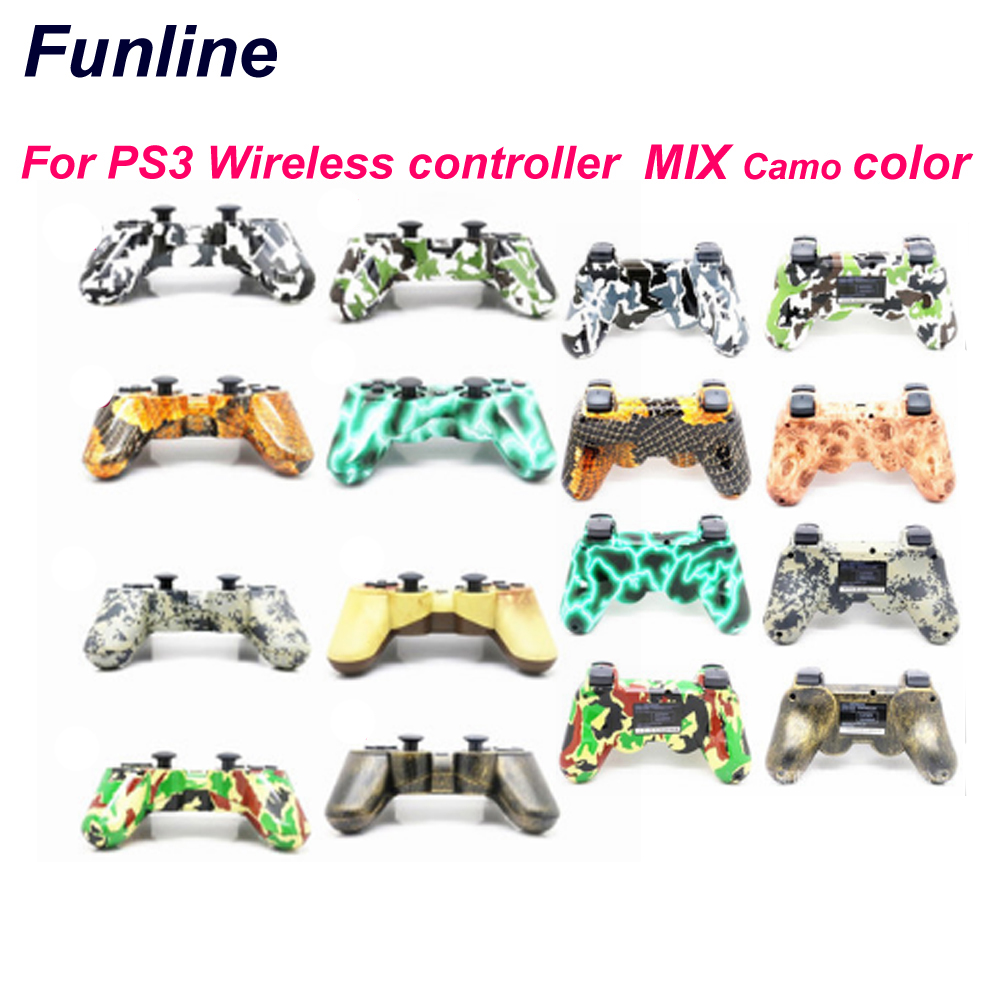 gamepad for PS3 Controller Wireless Bluetooth Joysticks for DoubleSHOCK 3 SIX-AXIS for PlayStation 3 Game Controller 3cleader® wireless controller for ps3 playstation 3 camouflage 1