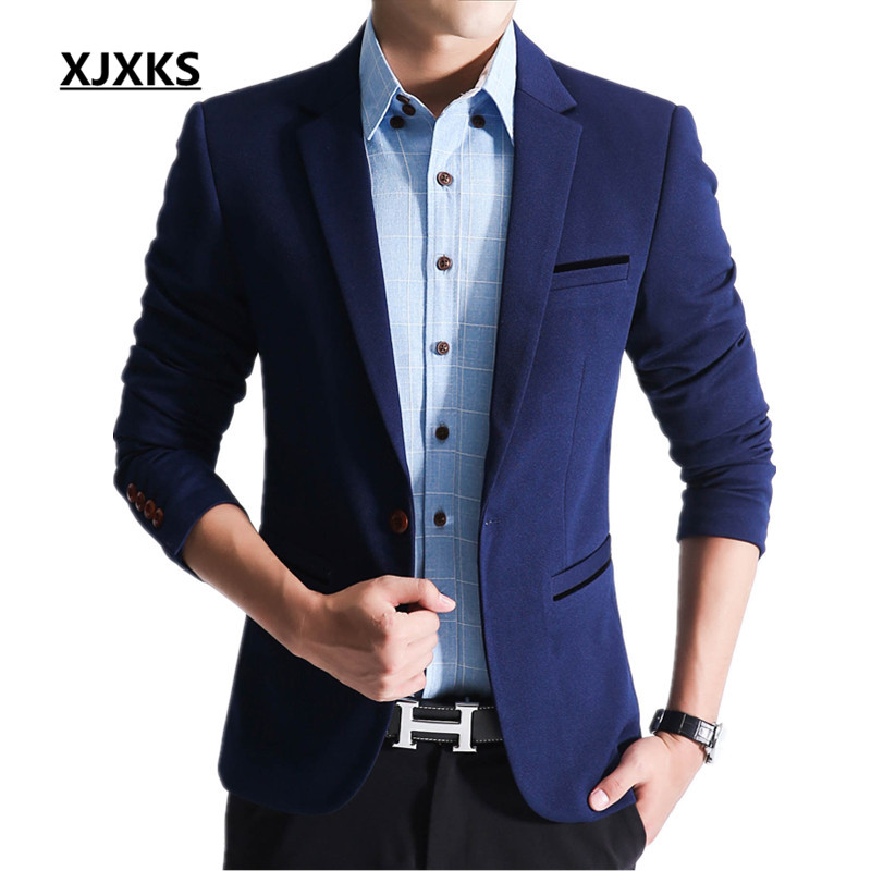 Blazers Jackets Mens: Men Blazer Spring 2017 Men's Slim Suit Job Male Wedding