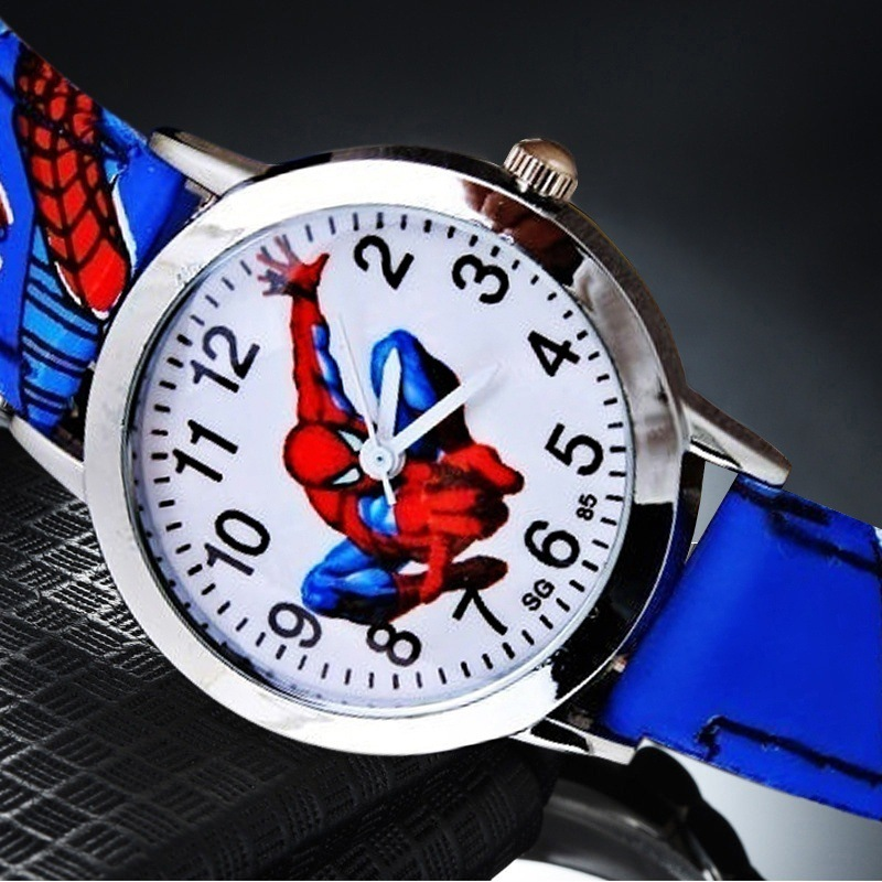 Cartoon Spiderman Watch Child Spider Men Waterproof Kids Watches Rubber Quartz Watch Boy Gifts Children Reloj Montre Relogio