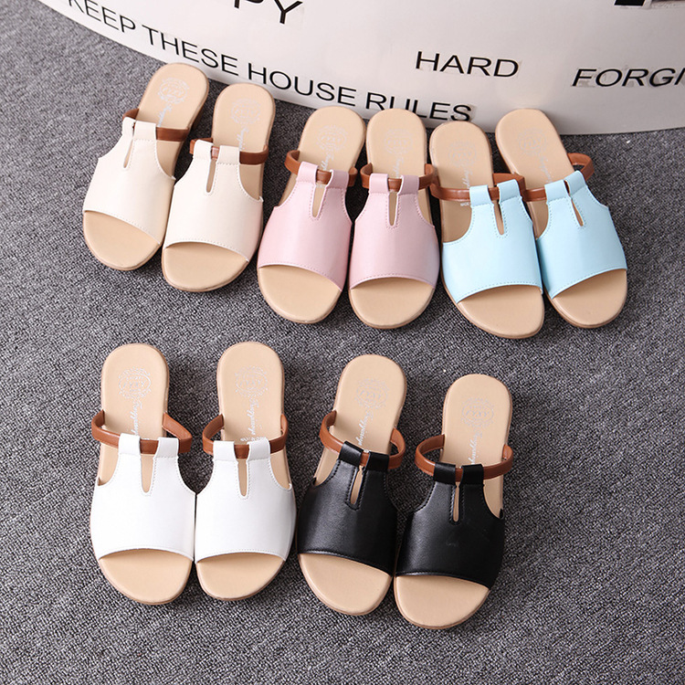 New Summer Slipper Women Slippers Slides Women Sandals Slippers Word Hollow out Women Single Sandals Non-slip Fashion B1210 2