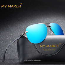 MYMARCH Fashion Pilot Mens Sunglasses Vintage Driving Mirror Lens Sun Glasses Classic Aluminum Rimless Oculos UV400