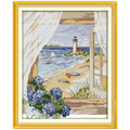 Seascape Outside the Window Counted Cross Stitch 11CT 14CT Cross Stitch Set  landscape Cross-stitch Kits Embroidery Needlework
