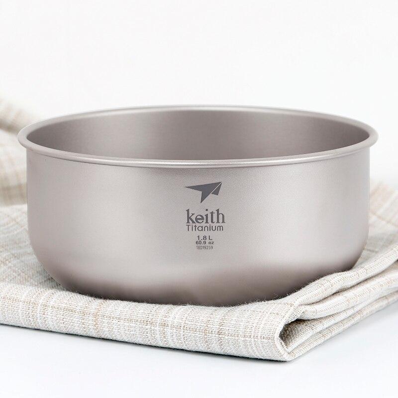 Keith cayce titanium bowl pure titanium bowl large bubble bowl outdoor camping tableware soup salad bowl