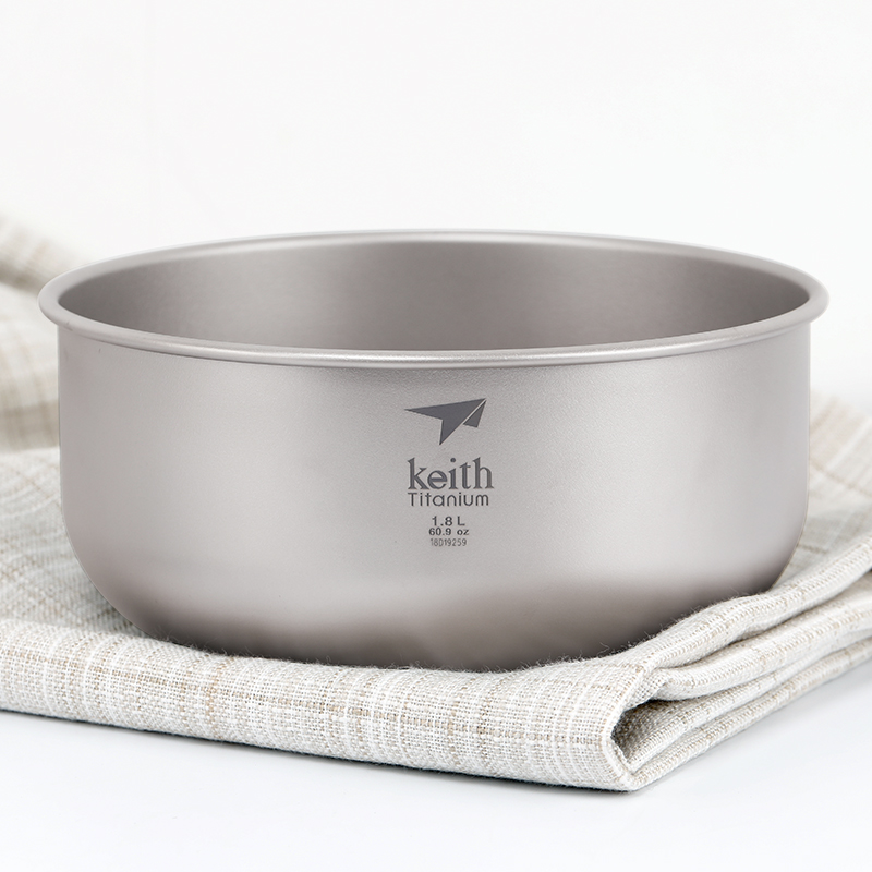 Keith cayce titanium bowl pure large bubble outdoor camping tableware soup salad plate house hold