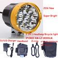 8.4V Wateprroof 9L2 18000 Lumens Cycling Helmet Head Lamp 9 x Cree XM-L L2 LED Bike Light & Headlight  Headlamp 3 Modes