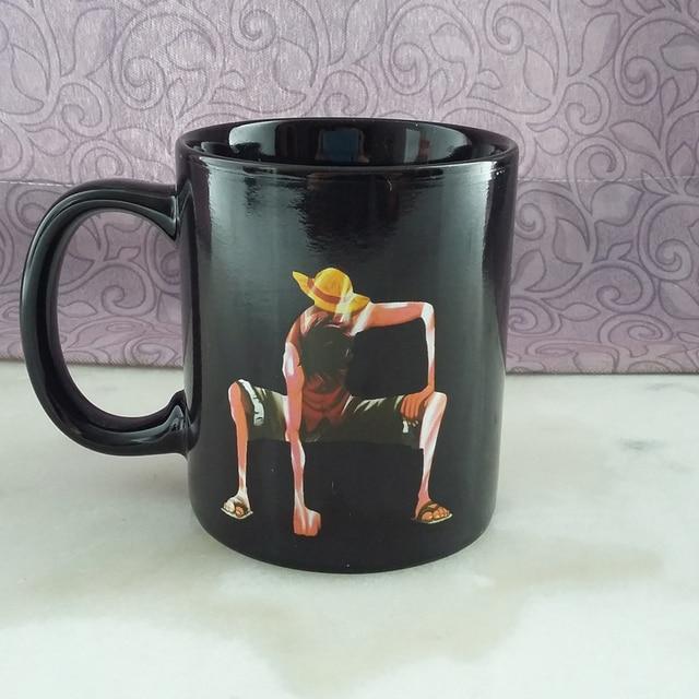 One Piece Monkey D Luffy Color-Changing Magic Mug