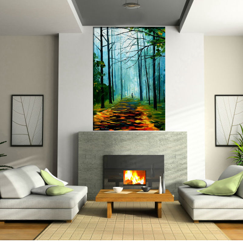 Hand Painted Modern Abstract Oil Painting On Canvas Wall Art Walking In The Forest Picture Painting For Living Room DecorationsHand Painted Modern Abstract Oil Painting On Canvas Wall Art Walking In The Forest Picture Painting For Living Room Decorations