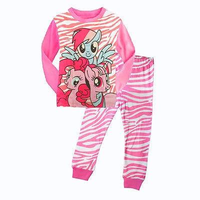 Прекрасный Мультфильм My Little Pony Топ Дети Детские Девушки и Ночное Белье, Пижамы Пижамы