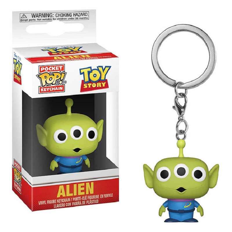 POP clave cadena juguete historia 4 Woody alienígena Buzz Lightyear oso PVC figura de acción de colección modelo juguetes para los niños