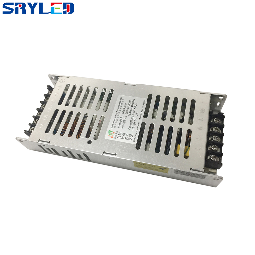 G-energy Ultra-thin 5V-40A 200W LED Display Power Supply