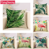Flying Dancing Originality Fashion Bird Flower Printed Square Pillow Bed Sofa Cushion Home Decorate For Car