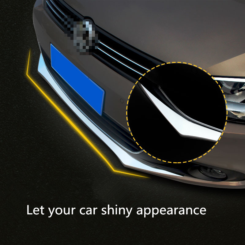 VW Stainless Steel Racing grille front bumper strip Volkswagen Jetta MK6 2012-2014 Moulding Trim Automotive Chrome Strip - RZ Auto Part store