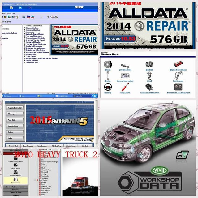 2018 Alldata Auto Repair Software Alldata 10.53 Mitchell on demand ...