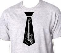 Camisas de Verão Novidade Homens Da Tripulação Do Pescoço de Impressão de Manga Curta Folha de Música Rock Acústico Cordas Da Guitarra Elétrica Empate Tee
