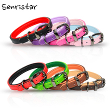 Padded PU Leather Pet Dog Collar For Small Medium Large Labrador Pitbull Heavy Alloy Soft Safe Cat Puppy
