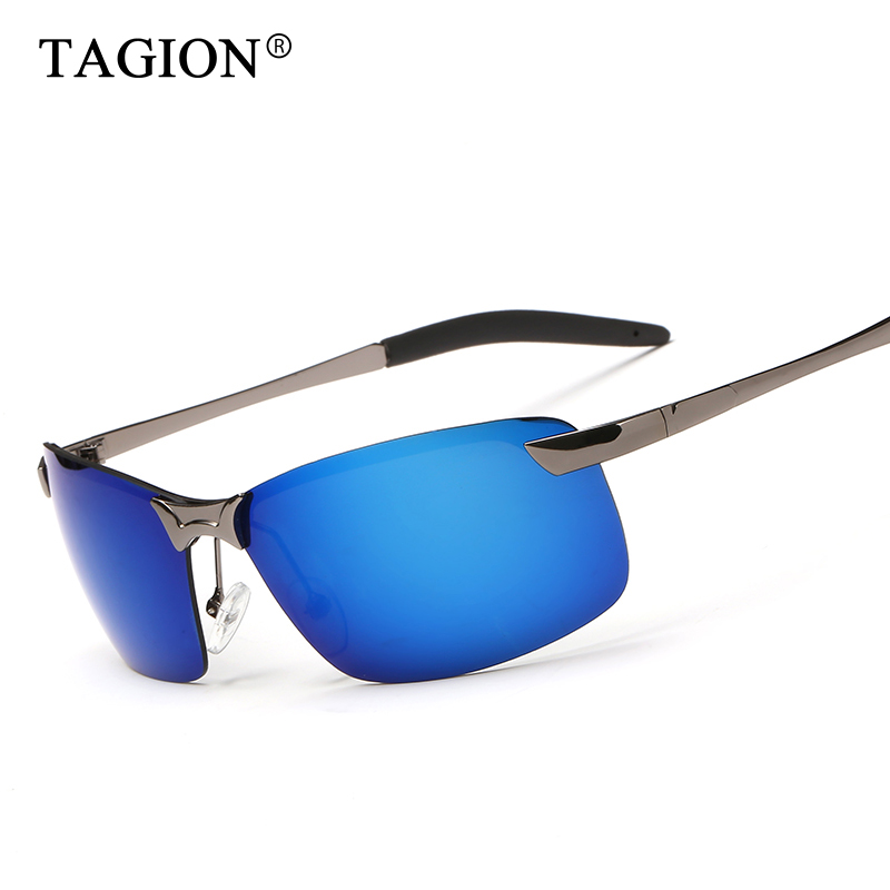 2018 TAGION Fashion Rectangle Rimless Photochromic