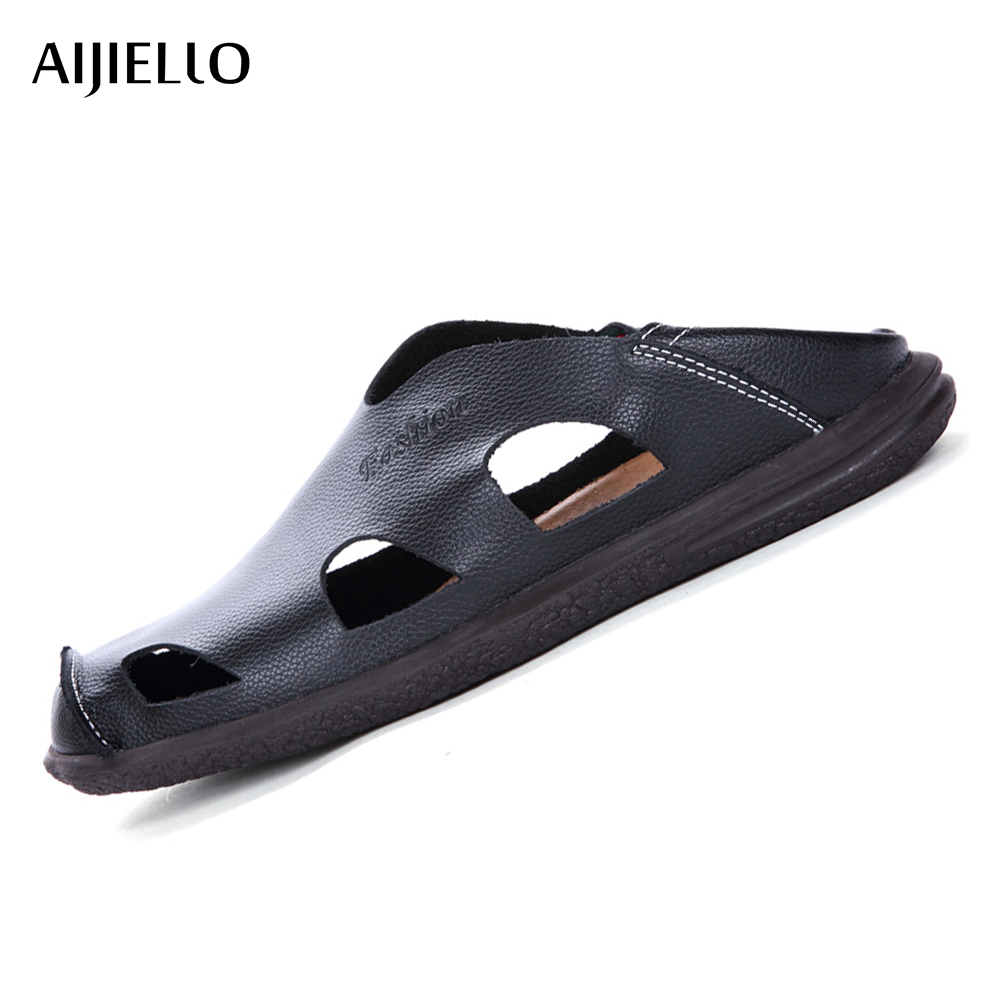 New Style Summer Leather Sandals Men Cool Sport Shoes Platform Outdoor Beach Sandals For Men Breathable Sandals Zapatos Hombr