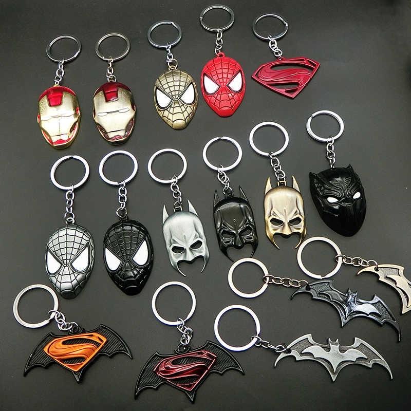 Detentor da Chave do carro Anéis Chave Chaveiro Homem De Ferro Homem Aranha Superman Fivela Chaveiro Carro Chaveiro Presente Criativo Acessórios Auto