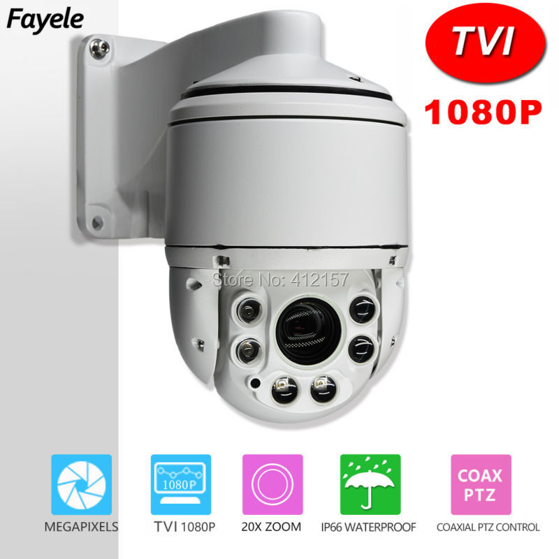 CCTV Security HD TVI 1080P 4 MINI High Speed Dome PTZ Camera 2.0MP Full Metal 20X Zoom IR 100M Auto Focus IP66 Waterproof 7 ptz middle high speed dome camera 1080p full hd 33x zoom ir 120m infrared night vision 4 in 1 hd ahd tvi cvi signal output