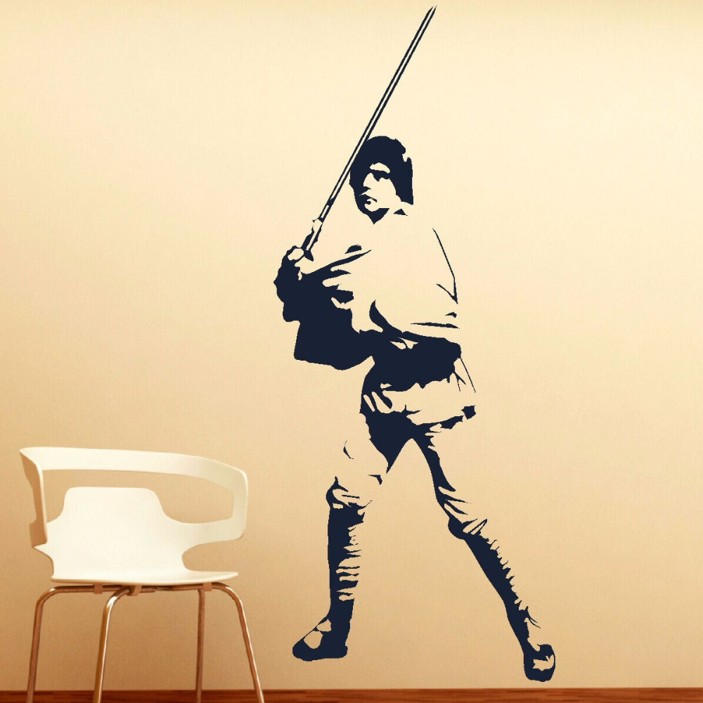 LARGE LUKE SKYWALKER STAR WARS VINYL SELF ADHESIVE WALL ART ROOM ...