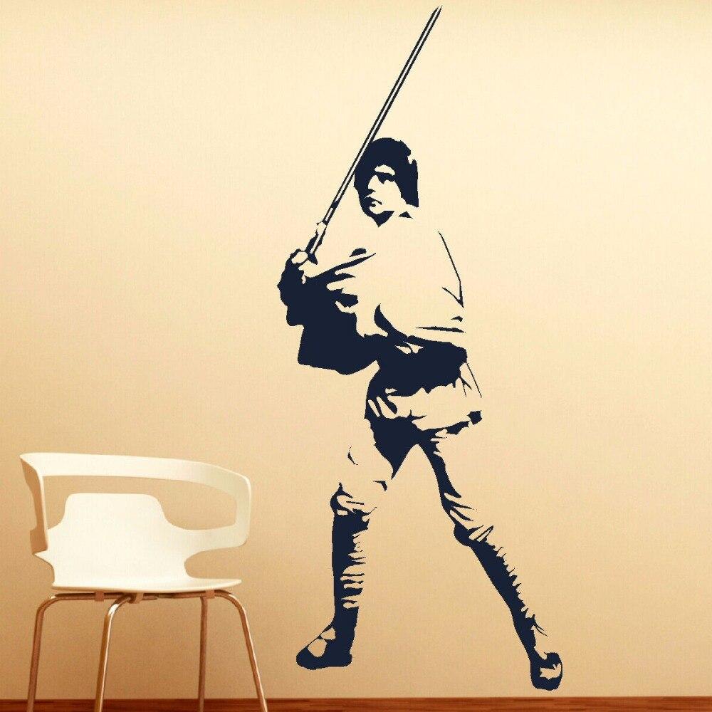 LARGE LUKE SKYWALKER STAR WARS VINYL SELF ADHESIVE WALL ART ROOM MURAL  GIANT STICKER DECAL