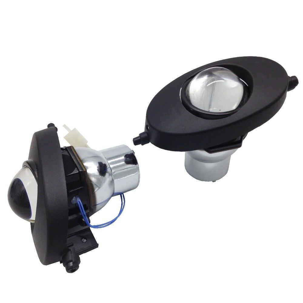 TW GT HID Xenon fog lamps Bi Xenon Projector Lens Kit H11 Crystal Clear foglights For Honda Civic 4D 2009
