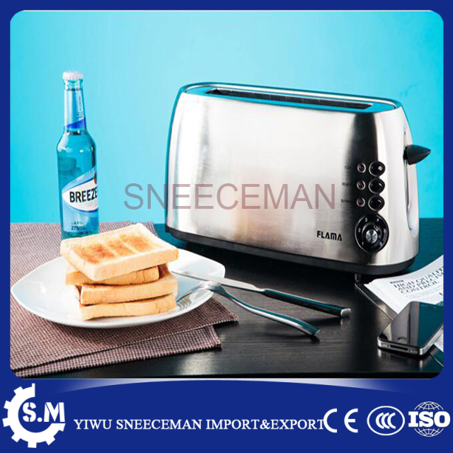 2 pcs electric bread toaster bread baking machine Stainless steel household toaster fy 2213 new style big pan electric bread toaster pancake machine