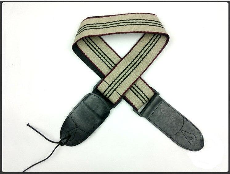 Hight quality algodón correa de la guitarra acústica bajo eléctrico correa de la