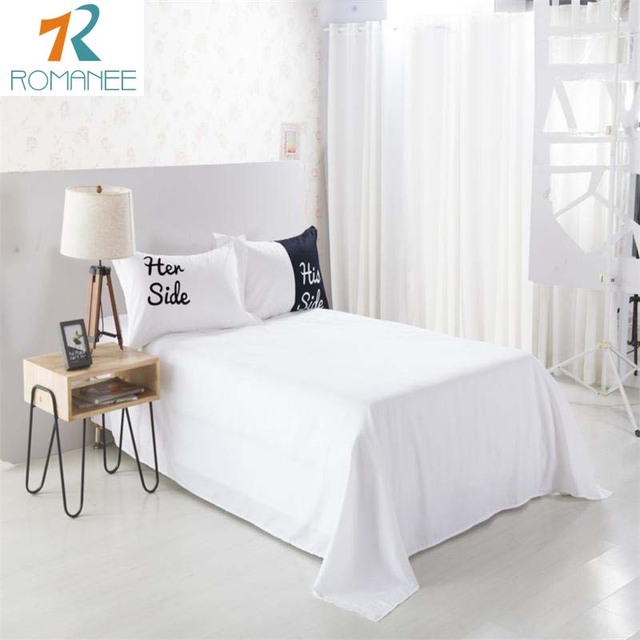 Romanee New fashion He side Her side Black White Bedding sets Queen/King Size 3pcs/4pcs Bedspread Bed Linen Duvet Cover Set Sale