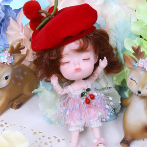 Image 1 - 1/12 BJD 26 Joint Body 14CM Mini doll DODO ob11 doll with outfit shoes makeup dolls and box combination Set gift toys