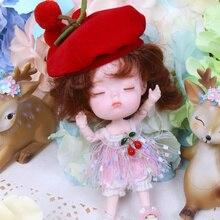 1/12 BJD 26 Joint corps 14CM Mini poupée DODO ob11 poupée avec tenue chaussures maquillage poupées et boîte combinaison ensemble cadeau jouets