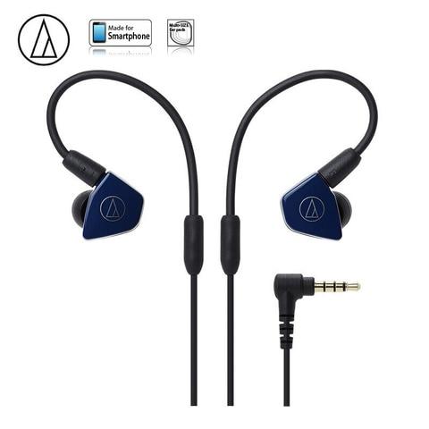 Fone de Ouvido com Fio Fone de Ouvido Original Audio Technica Hifi Duplo Dinâmico Esportes Microfone Controle Remoto Ath-ls50is