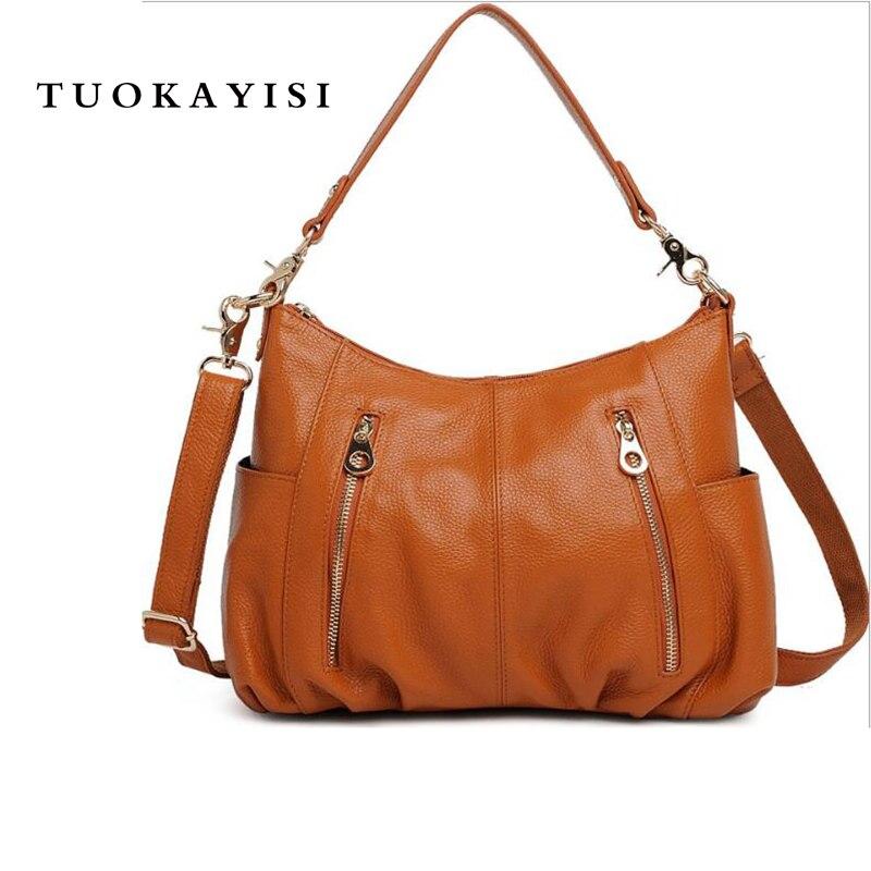 100% натуральная кожа сумки на плечо для дамы роскошные сумки женские дизайнерские мода молния замок большой мягкие сумки Bolsas Feminina