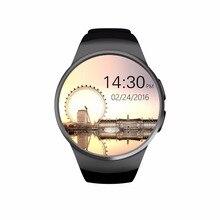 2016 heißer kw18 smartwatch Telefon Unterstützung anti-verlorene/Herzfrequenz Monitor/Schrittzähler/Schlaf-monitor GSM für android und ios