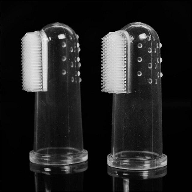 Super Soft Pet Finger Toothbrush Teddy Dog Brush Bad Breath Tartar Teeth Tool Dog Cat Cleaning Pet Supplies 2