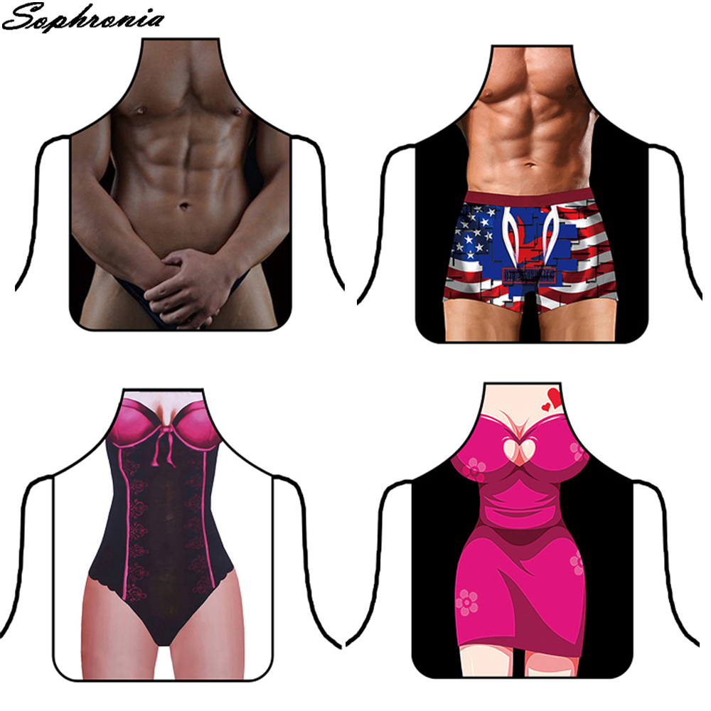 <font><b>3D</b></font> Funny <font><b>Sexy</b></font> Naked Man Aprons Women Apron Dinner BBQ Party Cooking Apron Adult Baking Accessories Funny Gifts For Men CWQ011 image