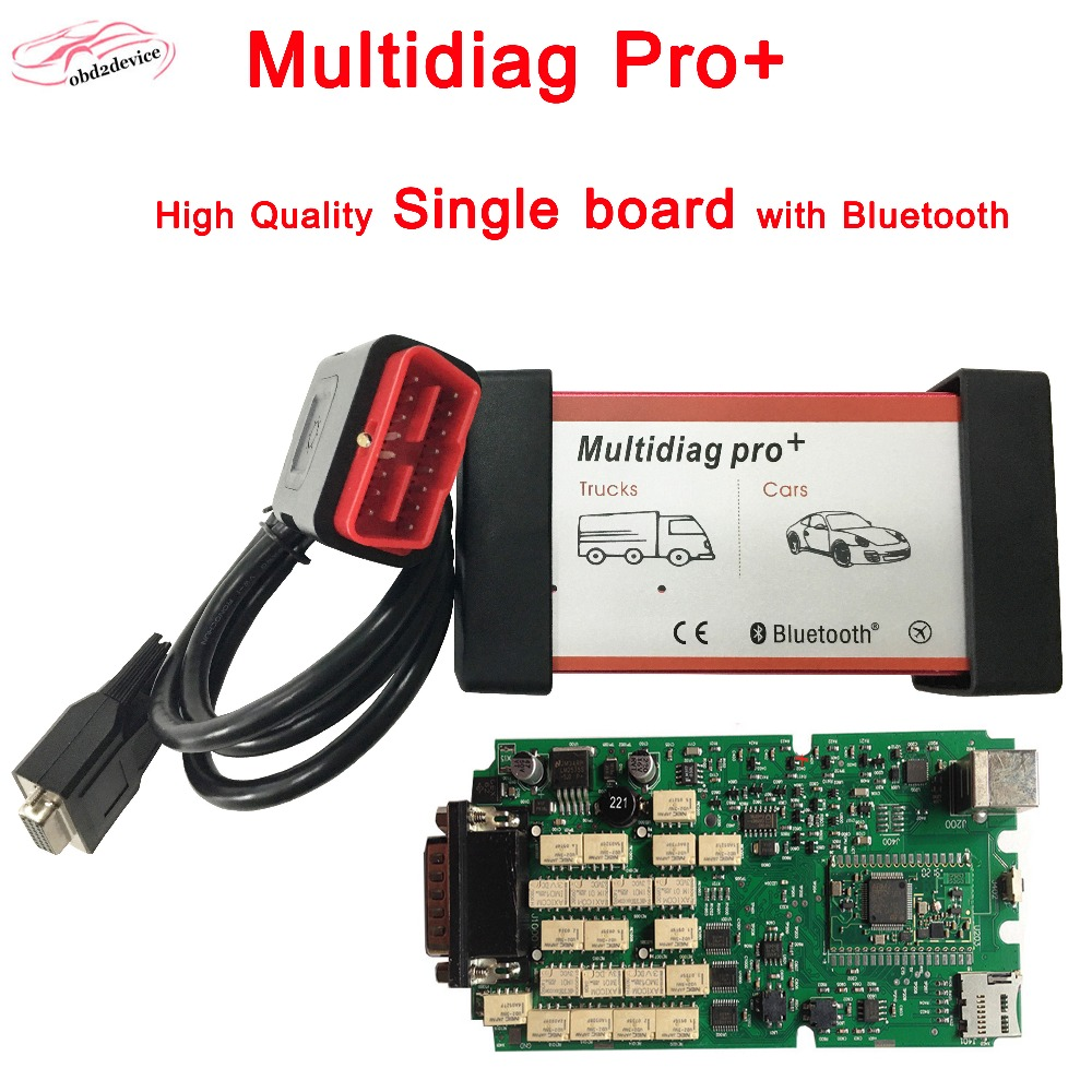 Multidiag Pro+ High Quality Single green board CDP TCS OBDII interface Scanner For CAR/TRUCK/Generic VD TCS cdp pro diagnostic single green board multidiag pro 2014 r2 keygen