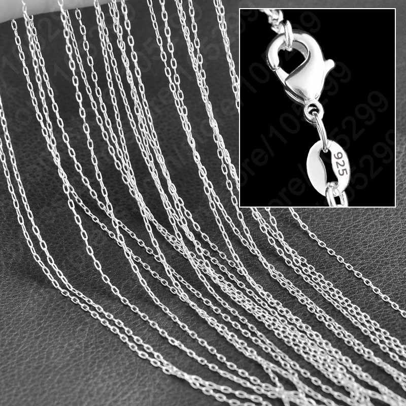 Top Quality Popular 16-30 Inch 925 Sterling Silver Jewelry Necklace Chains Lobster Clasps For Pendant Wholesale 10PCS