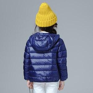 Image 2 - Пуховик для девочек, Модное детское зимнее пальто, Детские сверхлегкие зимние куртки для девочек, портативный пуховик с капюшоном для подростков