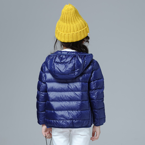 Image 2 - Girls Down Jacket Fashion Children Winter Coat Kids Ultra Light Winter Jackets for Girls Portable Hooded Down Coats for Teenage