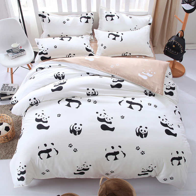 Black and white Panda bedding set  Panda Seeker
