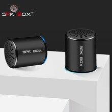 SPK תיבת 2 חבילות TWS מערכת אלחוטי Bluetooth רמקולים מתכת נייד מיני סטריאו צליל רמקול MP3 מוסיקה לשחק מיקרופון 3 W